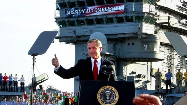 George W. Bush, May 2003: Those who praise Donald Trump's strategy on Islamic State should remember this case of premature acclaim on board the USS Abraham Lincoln.