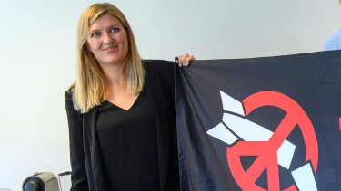 International Campaign to Abolish Nuclear Weapons executive director Beatrice Fihn.