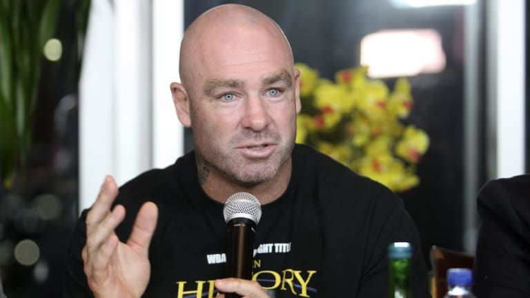 Loss of title: Lucas Browne has failed a drug test.