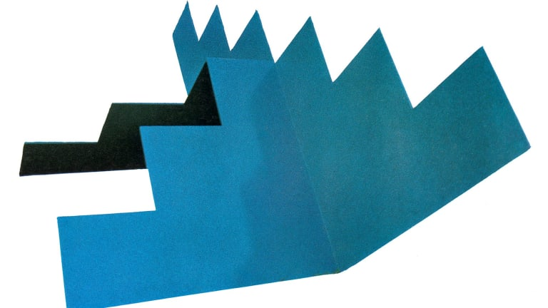 Missing: Noel Dunn's Untitled, a painted steel sculpture.