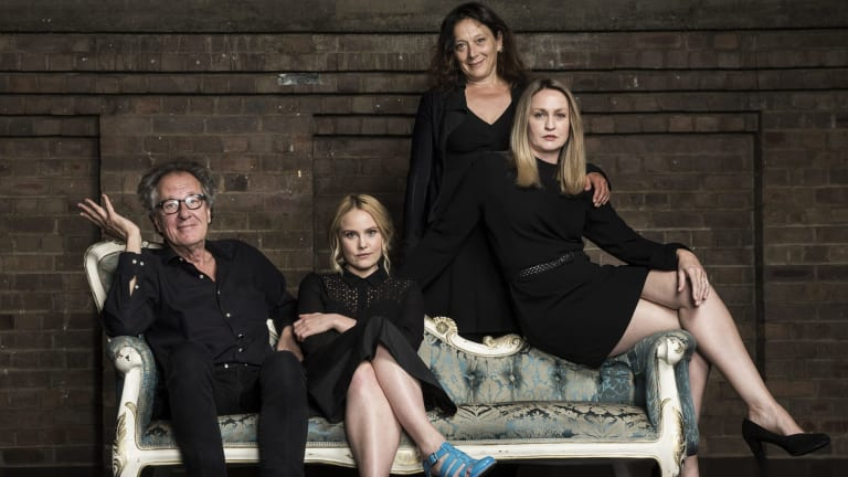 Geoffrey Rush and his stage daughters (from left) Eryn Jean Norvill, Helen Buday and Helen Thomson are exploring the workings of one of Shakespeare's most dysfunctional families.