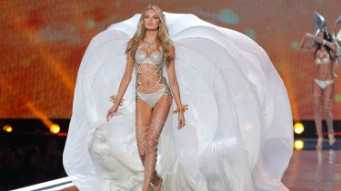 1a86de87bd Model Romee Strijd on the Victoria s Secret fashion show at the  Mercedes-Benz Arena in