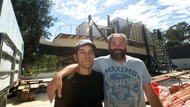 National Museum of Australia large technology conservator Nathan Pharaoh  and shipwright Mark Lionet have teamed up to restore the paddle steamer, Enterprise.