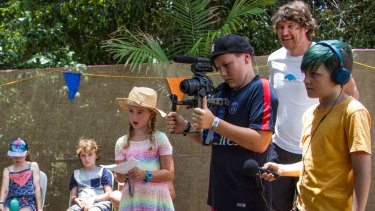 The children of Woodford got stuck into filming for the Kids Documentary Film Project.
