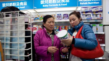 Foreign infant formula sales have soared in China.