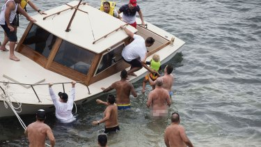 At first, Chris Pearce thought the boat was coming in to drop someone off.