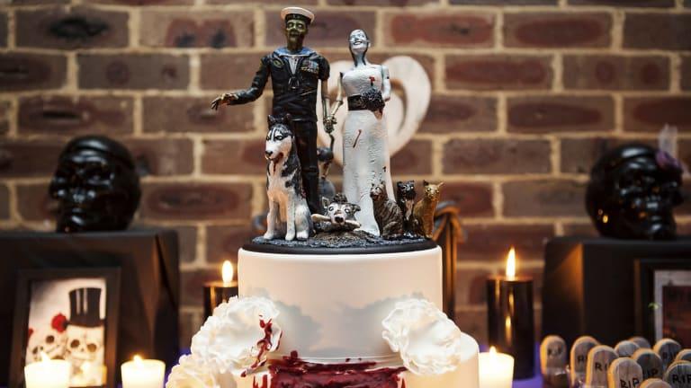 The Craigs' zombie wedding cake.