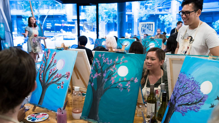 The Cork & Chroma painting classes mix art with BYO.