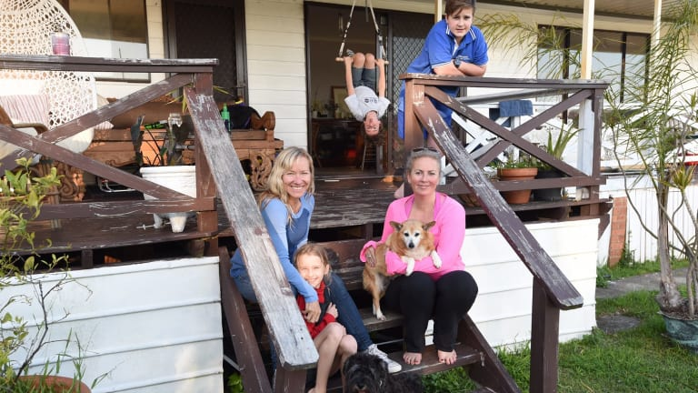 Min Carroll with Felix and Marlo (upside down) and Bobbi Bamford with her Fleur.