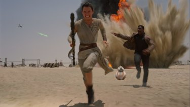 Daisy Ridley stars in the long-awaited seventh film in the <i>Star Wars</i> franchise.