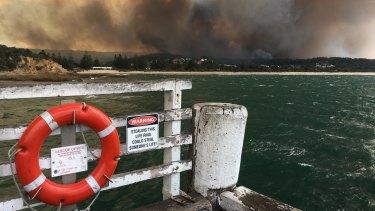 The Tathra bushfire on March 18, 2018.