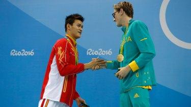 Controversy: Sun Yang and Mack Horton.