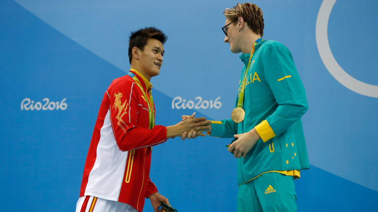 Controversy: Sun Yang and Mack Horton.