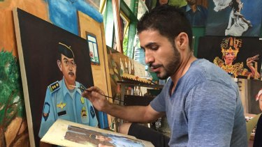 Rouhallah Series Abadi, the Iranian inmate Myuran Sukumaran entrusted to take over the art room in Kerobokan jail.