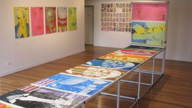 Alison Alder's <i>Death of A Broadsheet</i> exhibition at Megalo Print Studio and Gallery in 2015.