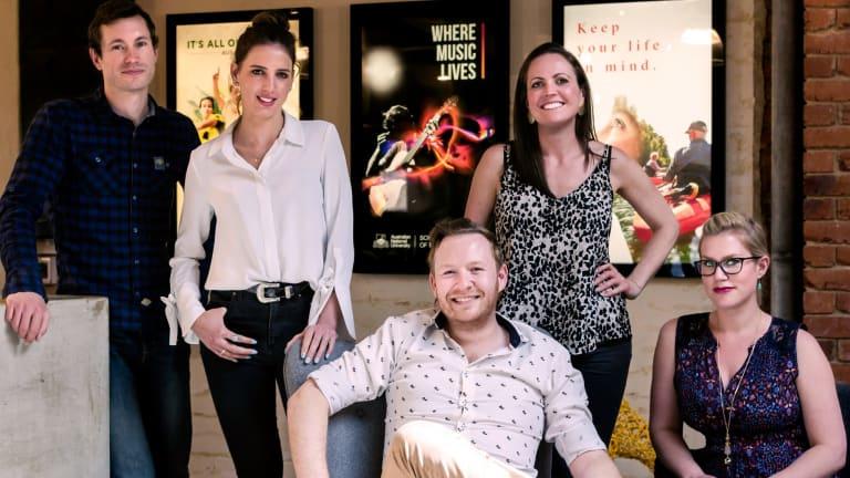 The Zoo Group creative team: Shaun Versey, Melissa Bareis, Jason Perelson, Erin Collett and Natalie van der Rijt.