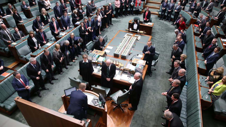 Speaker Tony Smith takes the chair in the House of Represenatives.