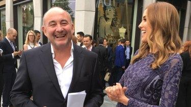 David Jones chairman Ian Moir and Rebecca Judd at the opening of David Jones Eastland in October.