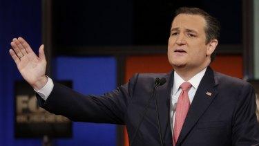 Republican presidential candidate senator Ted Cruz.