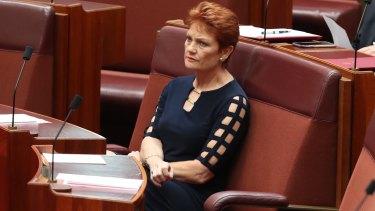 Senator Pauline Hanson.