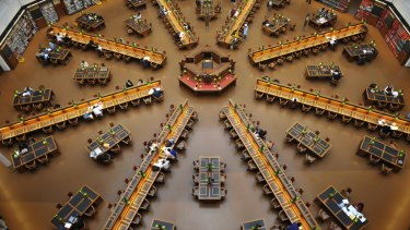 The State Library's reading room.