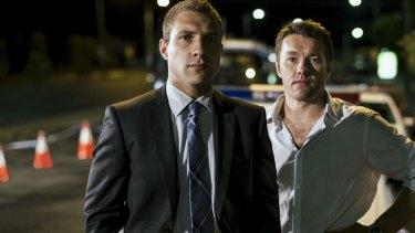 Jai Courtney and Joel Edgerton in police drama Felony.