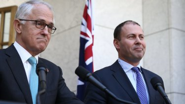 Backdown: Malcolm Turnbull and Josh Frydenberg have ruled out an emissions intensity scheme.