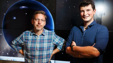 Mike Brown, professor of planetary astronomy, and Konstantin Batygin, assistant professor of planetary science, at the California Institute of Technology.