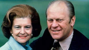President Gerald Ford and his wife Betty Ford in 1975. For many presidential wives, the prospect of becoming first among Washington hostesses was a gloomy one.