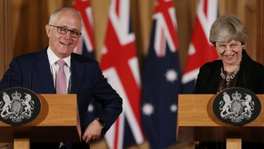 Prime Minister Malcolm Turnbull in London this week where he urged a return to the sensible centre.