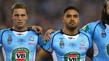 On debut: Matt Moylan and Dylan Walker made their debuts for NSW, but Walker didn't see much of the action.