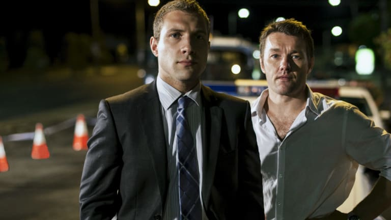 Jai Courtney and Joel Edgerton in police drama Felony.