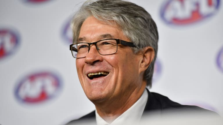 Recently retired AFL chairman Mike Fitzpatrick will be breathing a sigh of relief after avoiding another punch-up with investors.