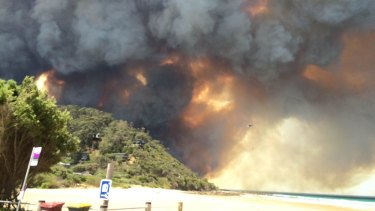 Hundreds of people were forced to flee bushfires along the Great Ocean Road over summer.