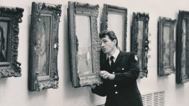 No painting left unturned: Constable Steve Wilson was one of 25 policemen who searched the National Gallery of Victoria for the missing Picasso.