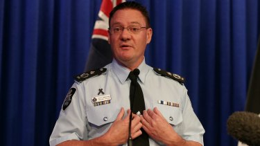 AFP Deputy Commissioner Mike Phelan addresses the media.