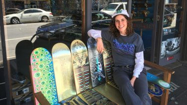 Skateboarding started as a hobby for Naomi Hastings, who now plans to turn it into a research degree.