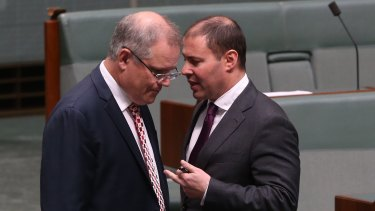 Treasurer Scott Morrison and Resources Minister Josh Frydenberg: The government is reportedly considering major reforms ahead of the budget, including extending a royalty to the offshore projects under a minimum rate of resource tax.