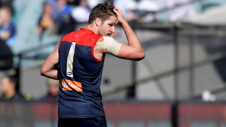 Jesse Hogan has endured a torrid 2017, but the Demons are hopeful he can play finals should the club make it.