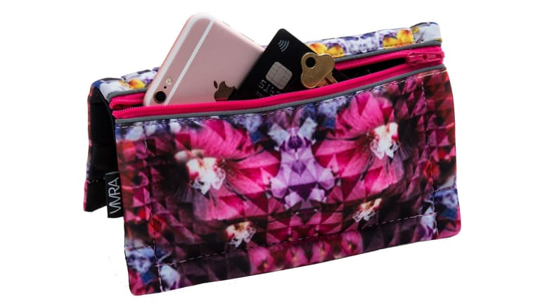 Vivra bum bags are designed with a magnetic clasp.