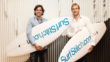 SurfStitch co-founders Lex Pedersen (left) and Justin Cameron.