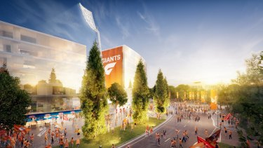 An artist's impression of the proposed Manuka Oval redevelopment.