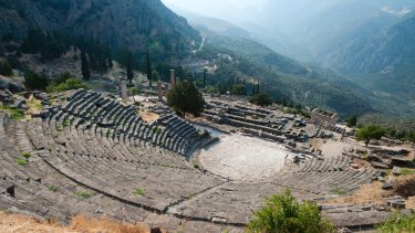 A source of inspiration: the traditional Greek theatre at Delphi.