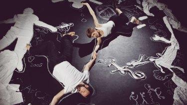 Glasgow-born dancer and choreographer Christine Devaney and Belgian performer Hendrik Lebon's dance work Chalk About.