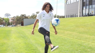 Canberra United recruit Toni Pressley has arrived in Australia.