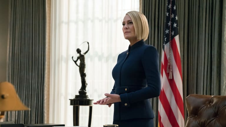 Robin Wright is the embodiment of lethal blonde ambition in the final season of <i>House Of Cards</I>.