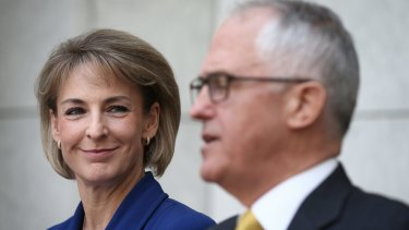 "Minister for Women Michaelia Cash talked up the government's $55.7 million ""funding boost""."