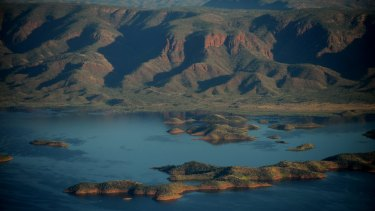 The Ord river dam in Mirima national park in the East Kimberley.