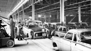 End of an era: the then-new Ford factory at Campbellfield, in 1959.