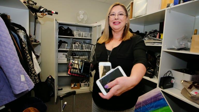 Irene Klasse in Taxis Combined's lost property storage room.